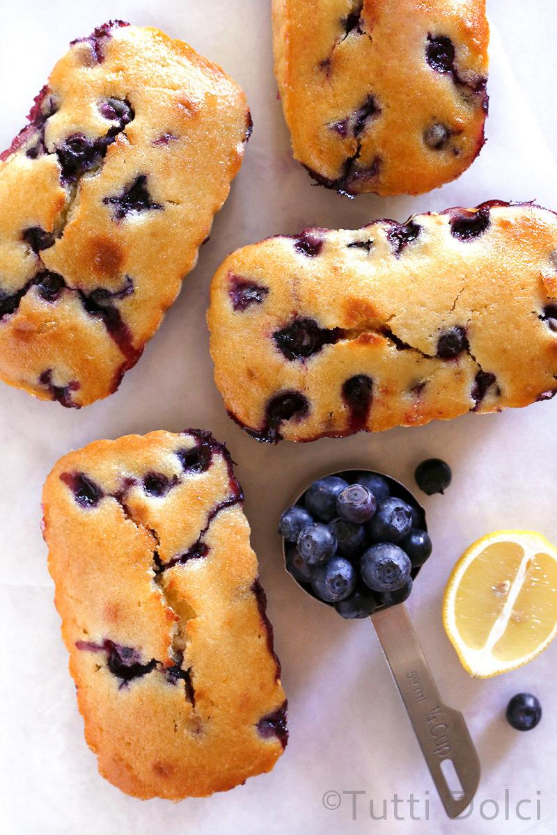 Blueberry Lemon Loaf Cakes