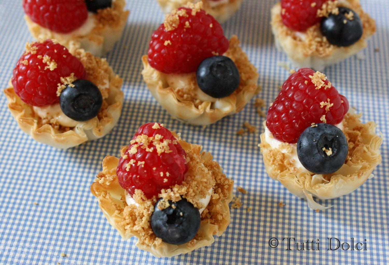Fresh Berry Phyllo Tarts