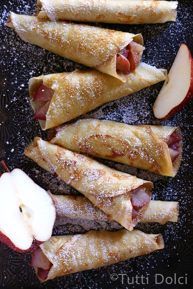 Brown Butter Pear Crepes   Tutti Dolci