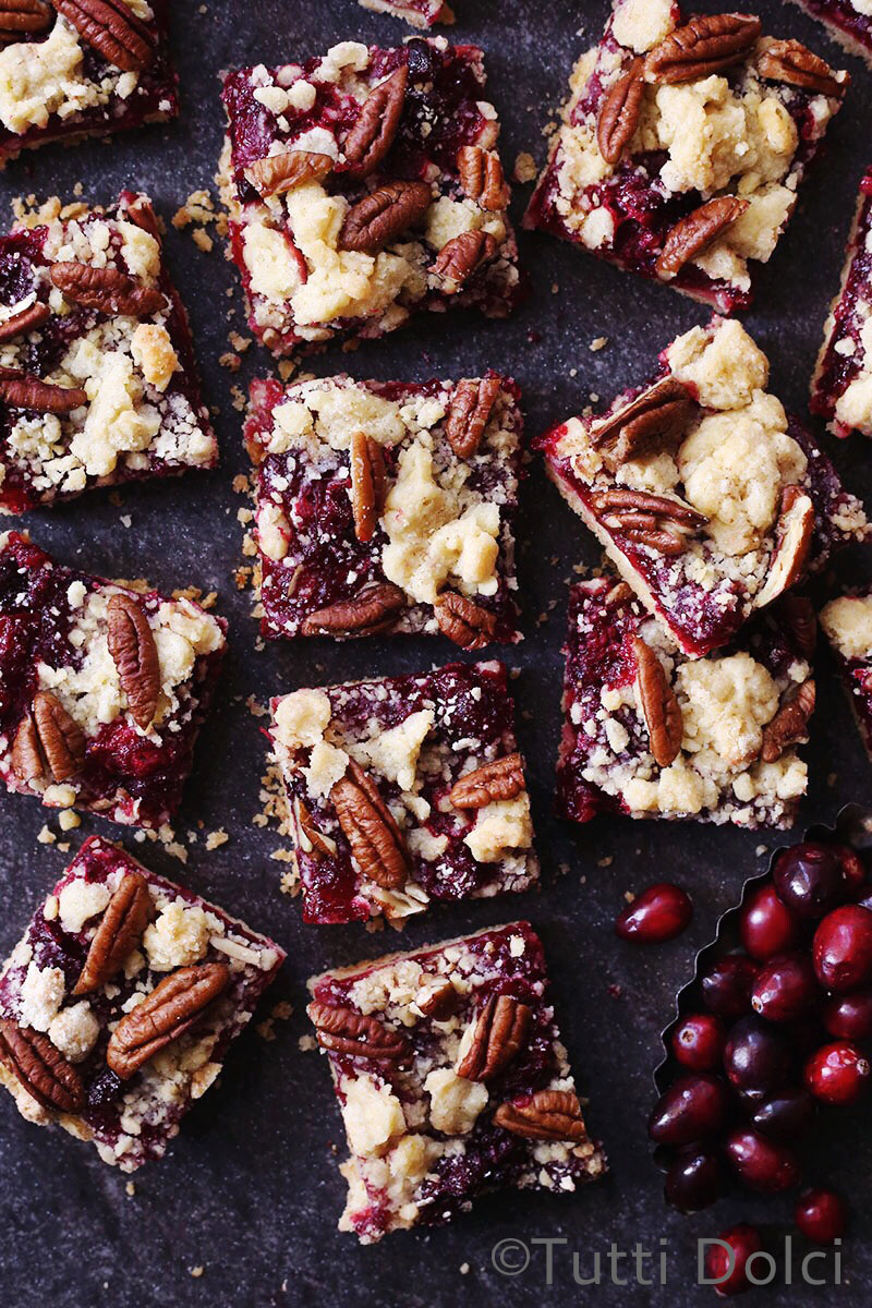 Cranberry Pecan Crumb Bars | Tutti Dolci