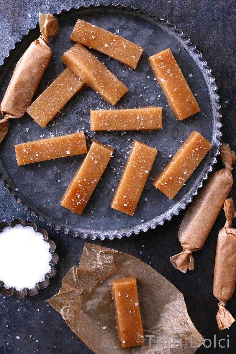 Maple Bourbon Caramels