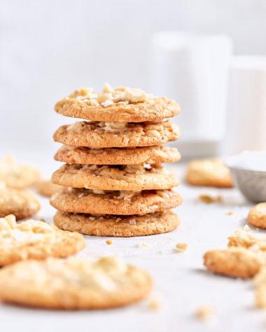 Salted White Chocolate Macadamia Cookies