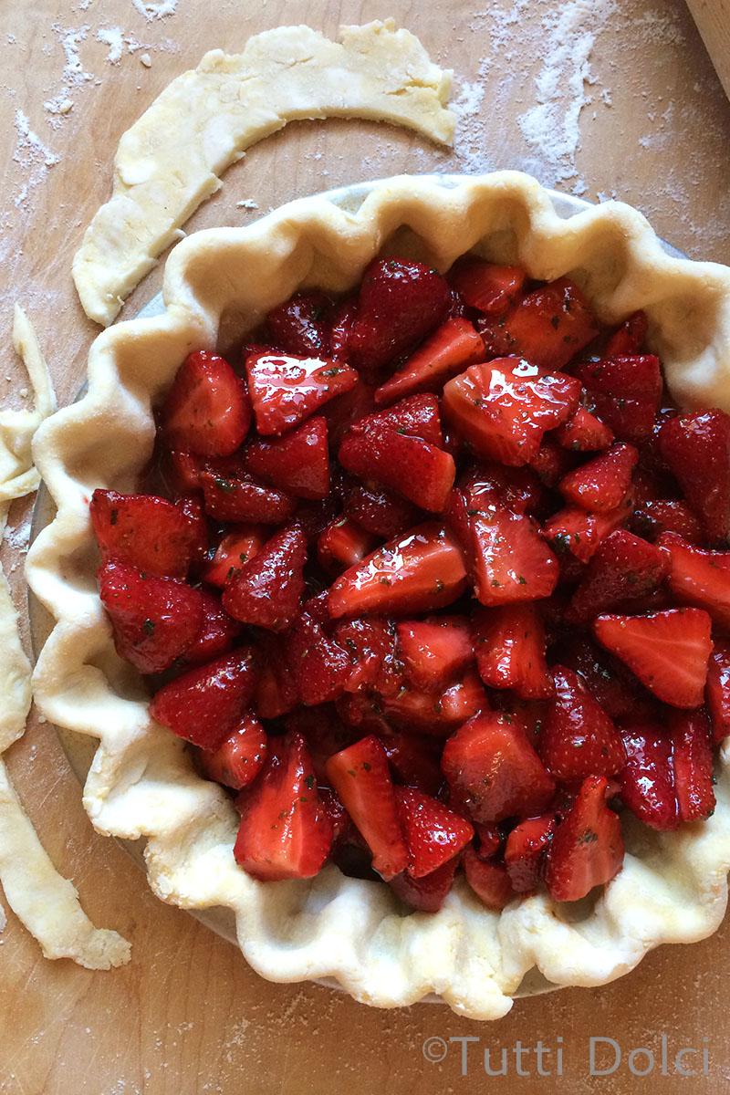 Strawberry Basil Pie | Tutti Dolci