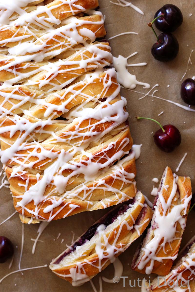 Cherry Almond Danish Braid | Tutti Dolci