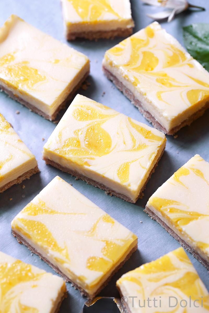 Meyer Lemon Cheesecake Bars