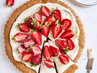 Strawberry Cookie Tart