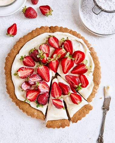 Strawberry Cookie Tart