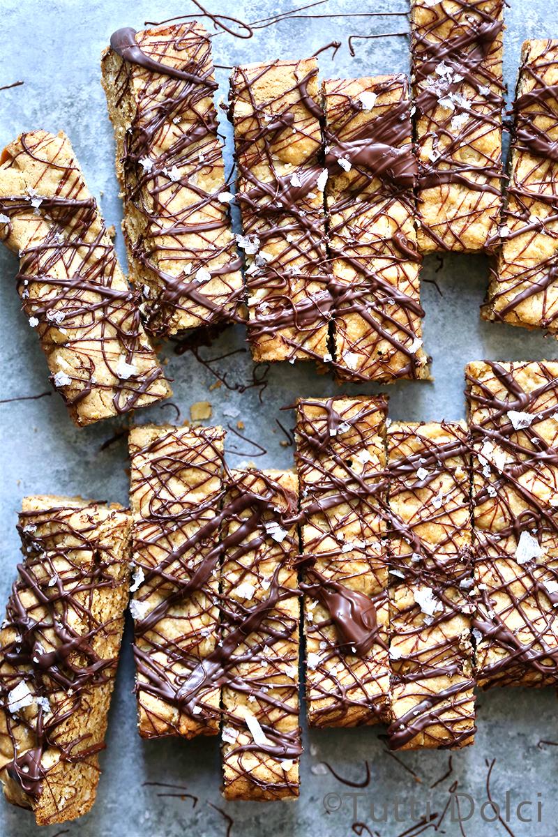 Oatmeal Cashew Butter Cookie Bars