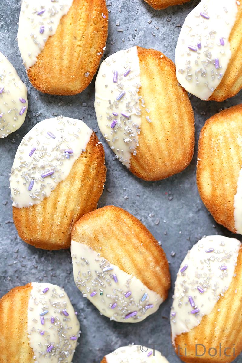 Lavender White Chocolate Madeleines