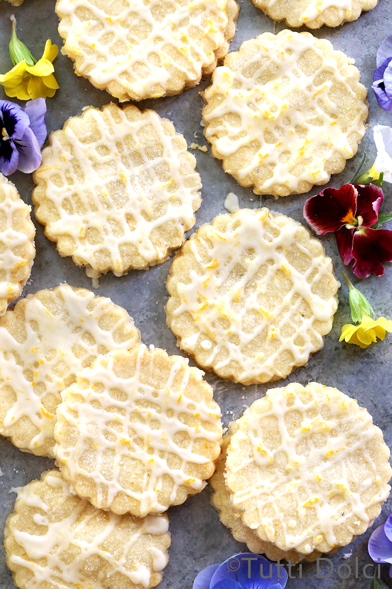 Lemon Lavender Shortbread Cookies