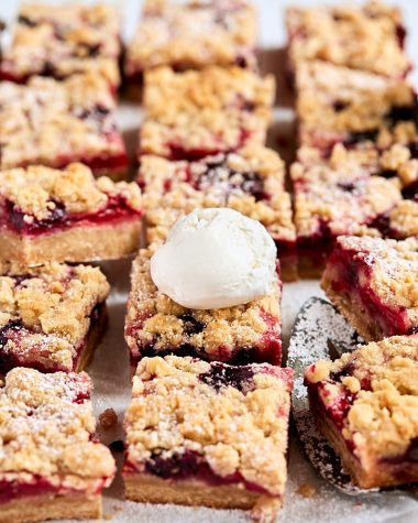 Triple Berry Crumb Bars