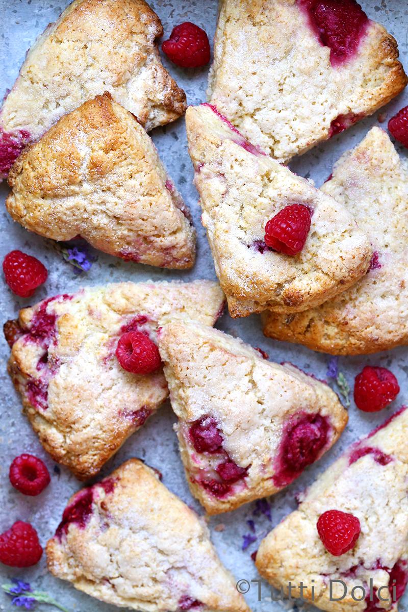 Raspberry Cream Scones
