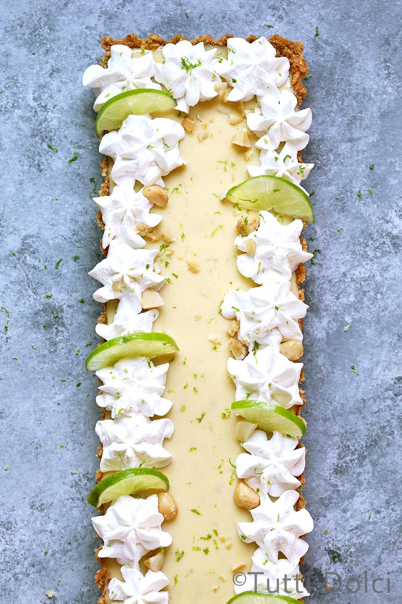 Key Lime Coconut Macadamia Tart