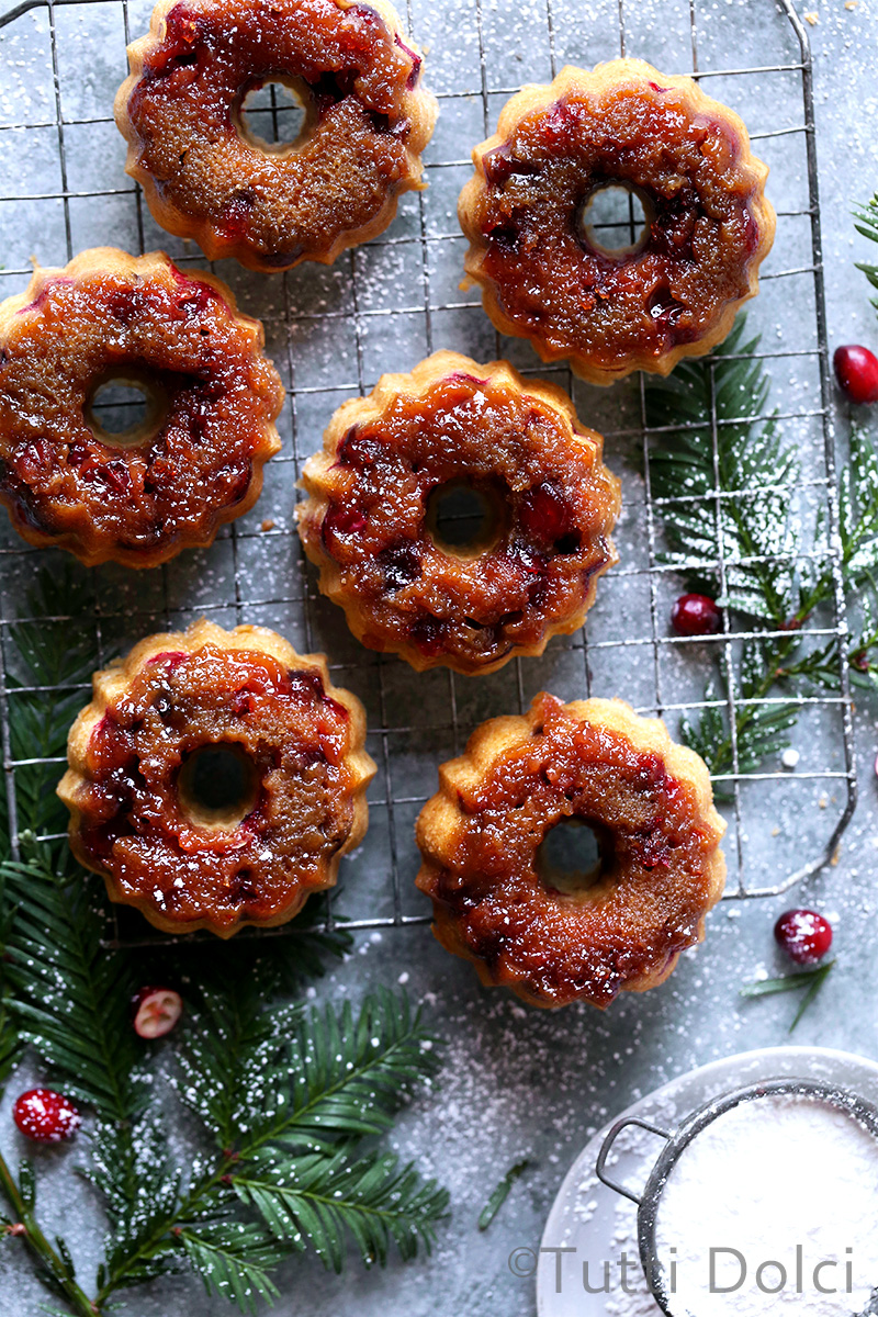 Cranberry Upside Down Cakelets