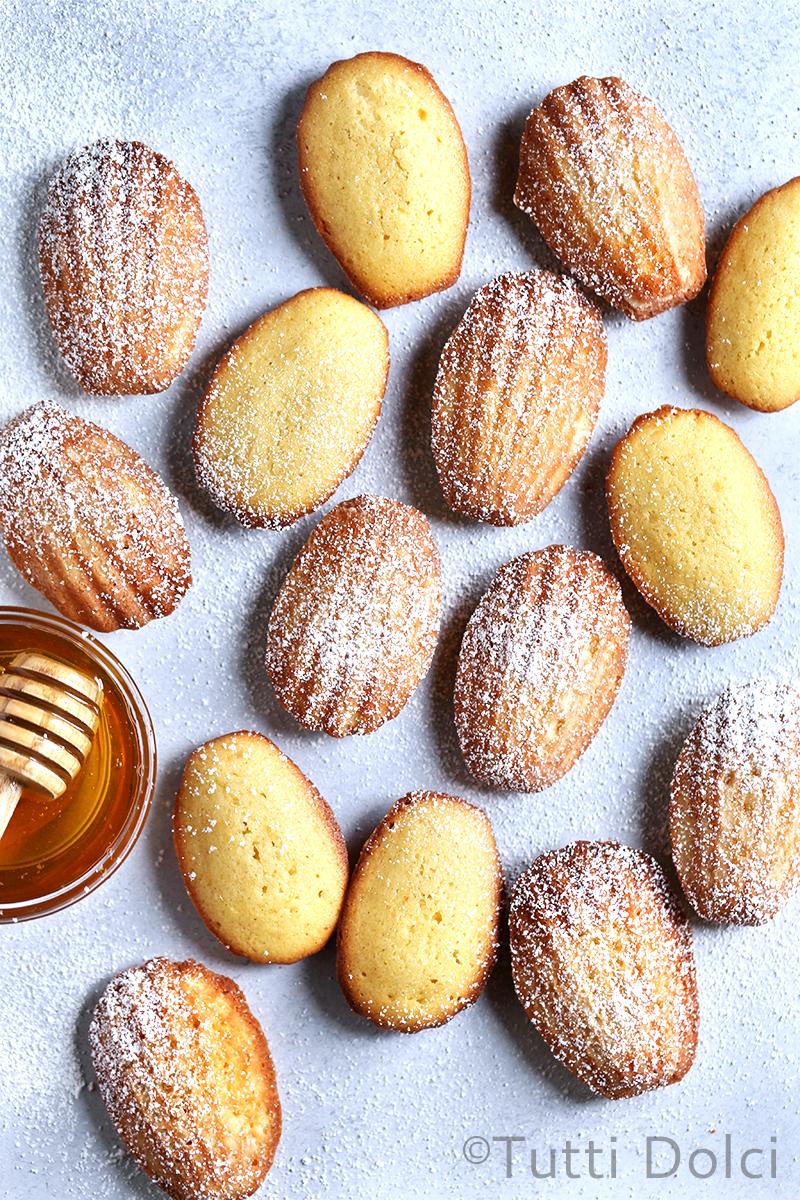Brown Butter Honey Madeleines