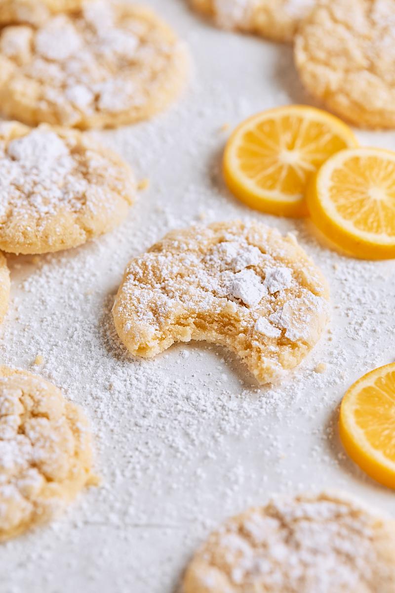 Meyer Lemon Crinkle Cookies Tutti Dolci