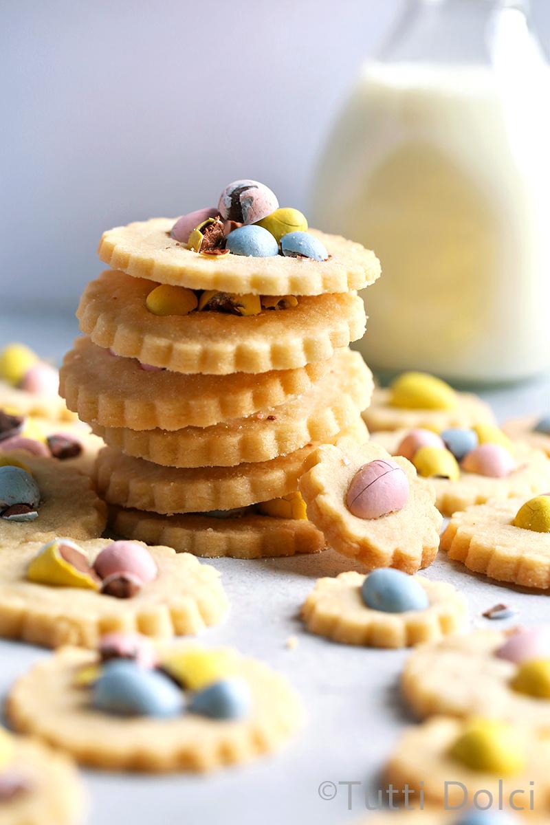 Cadbury Mini Egg Shortbread Cookies