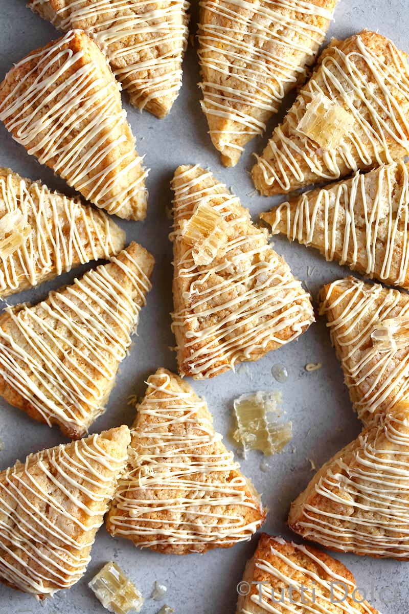 Citrus Honeycomb Scones