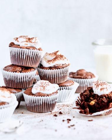 Triple Chocolate Brownie Cups