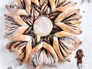 Chocolate Hazelnut Star Bread