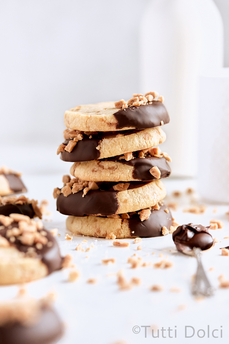 Chocolate Toffee Slice and Bake Cookies