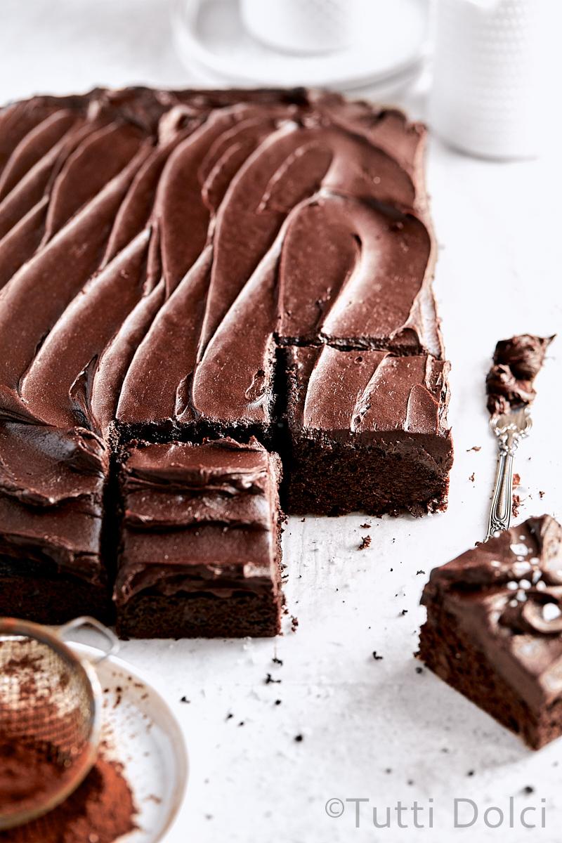 Dark Chocolate Sheet Cake