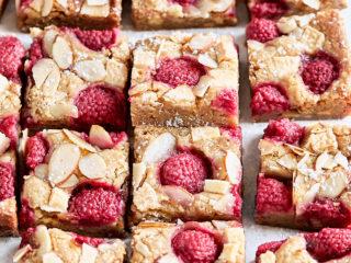 Raspberry Almond Blondies