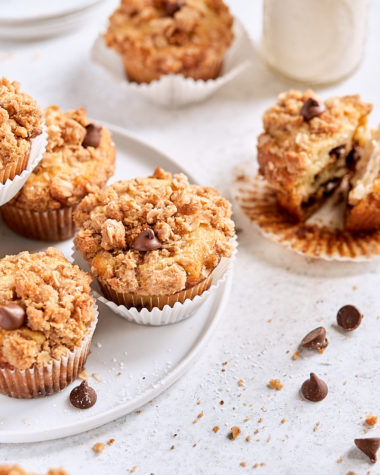 Chocolate Chip Crumb Muffins