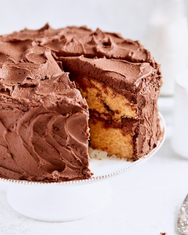 Nutella Swirl Layer Cake