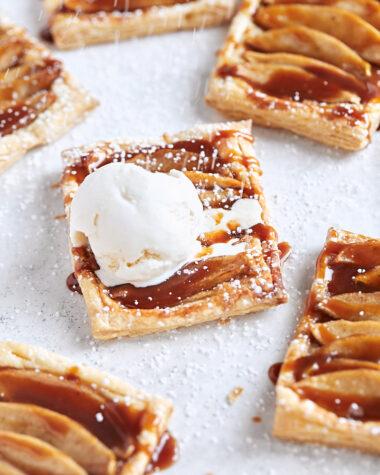 Caramel Apple Puff Pastry Tarts