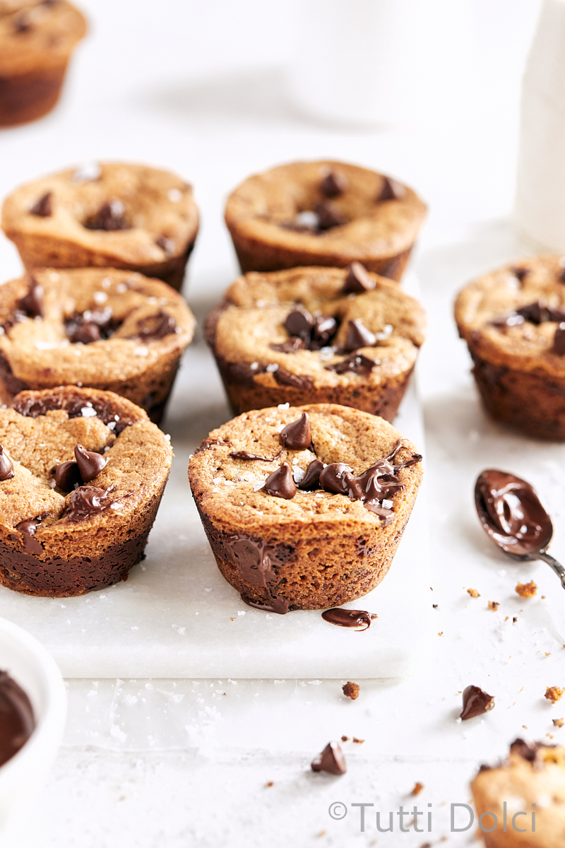 Chocolate Chip Nutella Cookie Cups