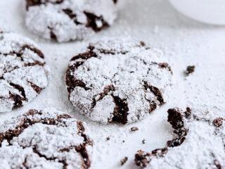 Dark Chocolate Crinkle Cookies