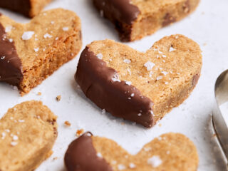 Chocolate Dipped Toffee Blondies