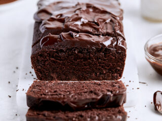 Chocolate Ganache Loaf Cake