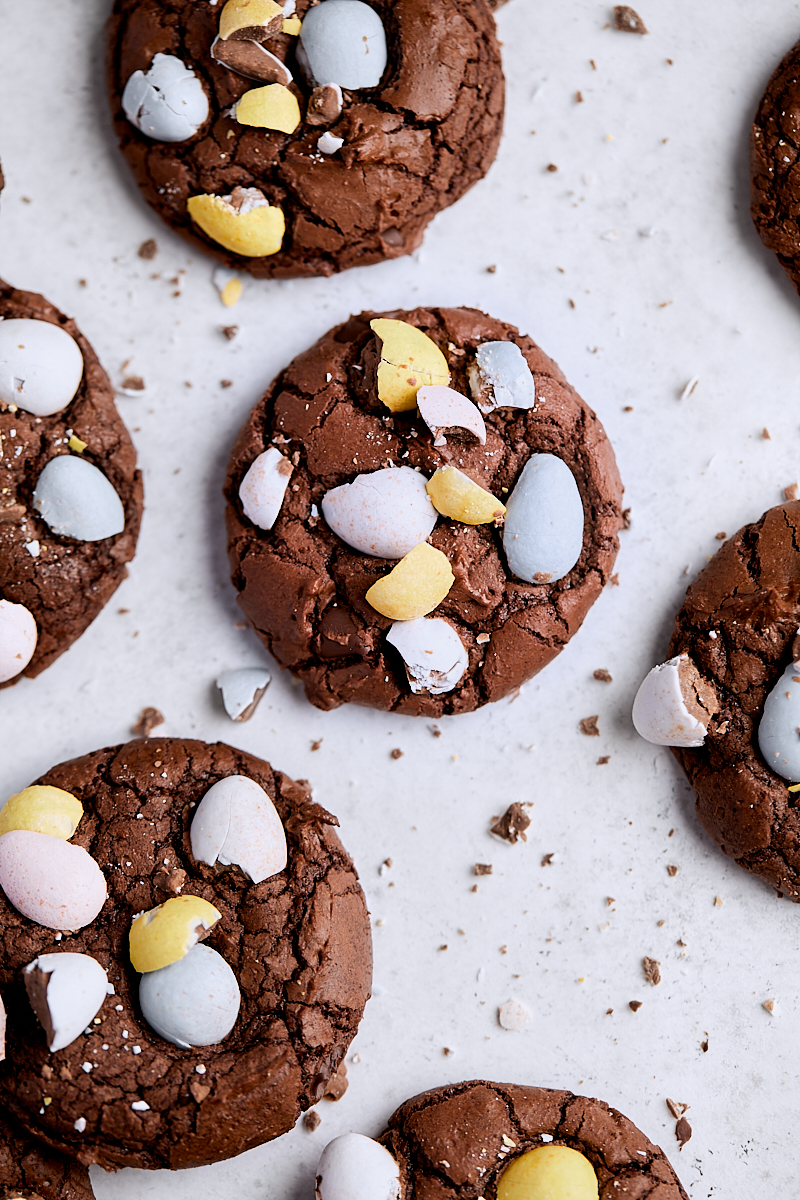 Cadbury Egg Brownie Cookies