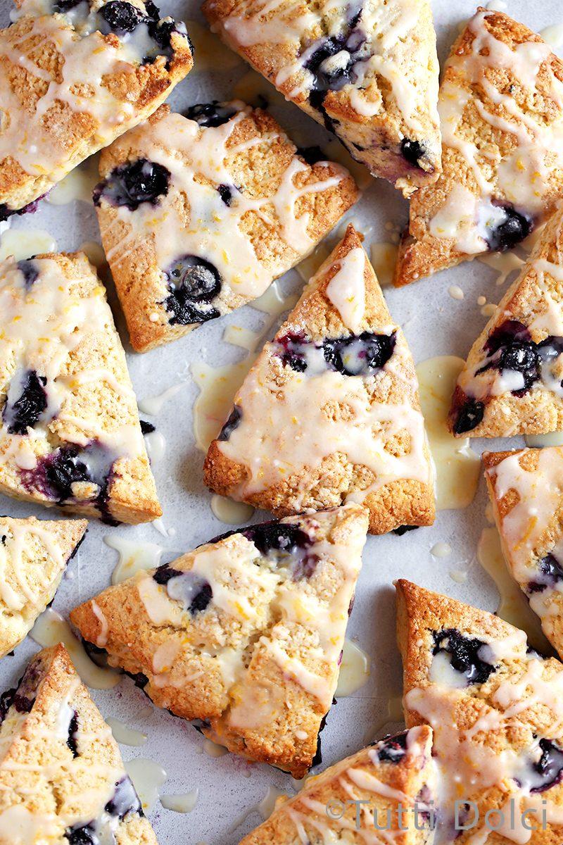 Blueberry Lemon Cream Scones