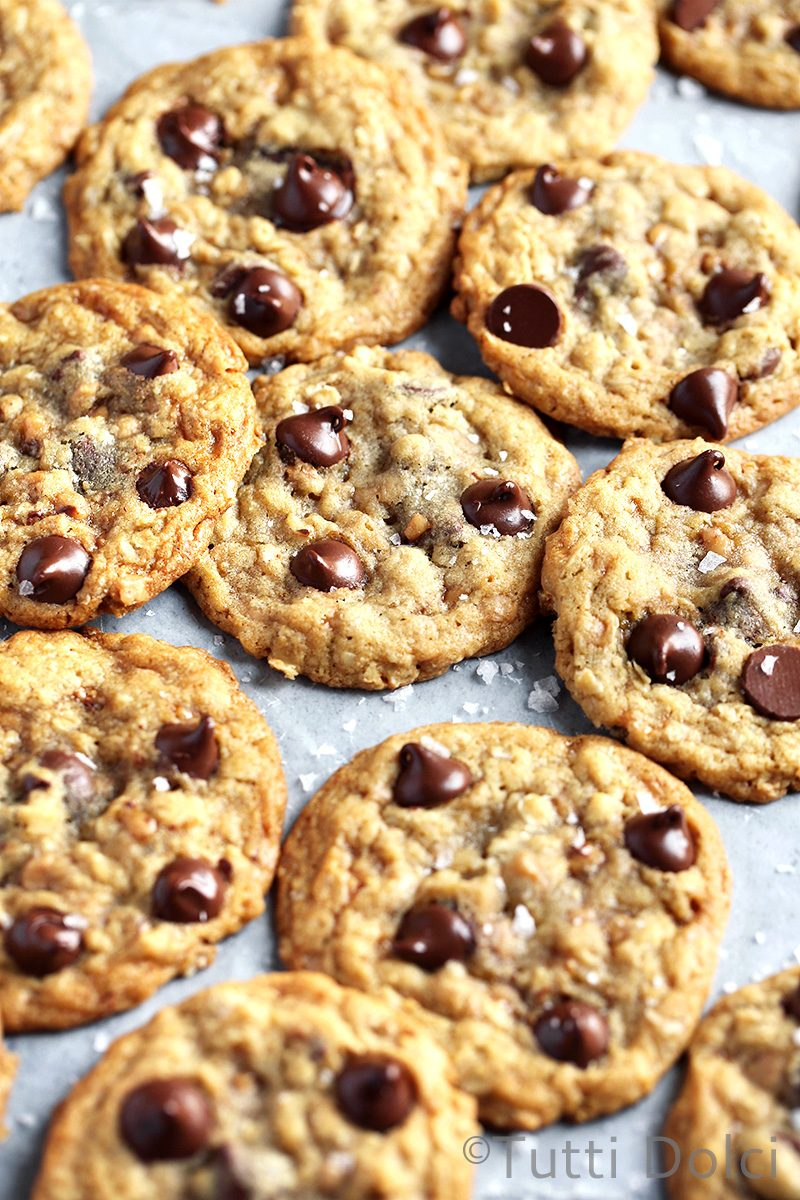 Chocolate Toffee Oatmeal Cookies
