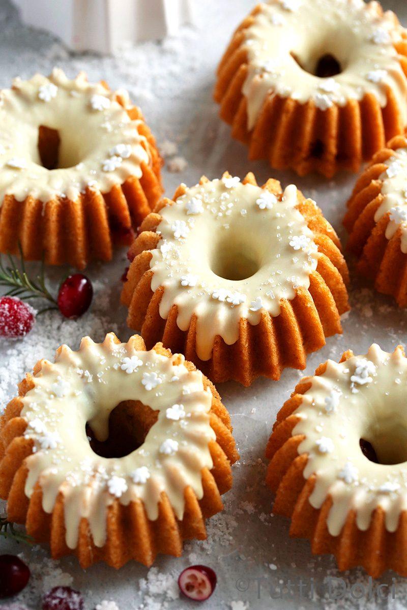 Cranberry White Chocolate Cakes